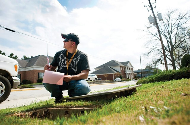 Perhaps Brenau's most visible face in the past two years, 2013 graduate Erik Nemecek connected the dots between Marine, cop, fireman, EMT, carpenter, welder, husband, father, matchmaker and motorbike wanderer to a degree in nursing and a future doing what he's always done best: helping other people.