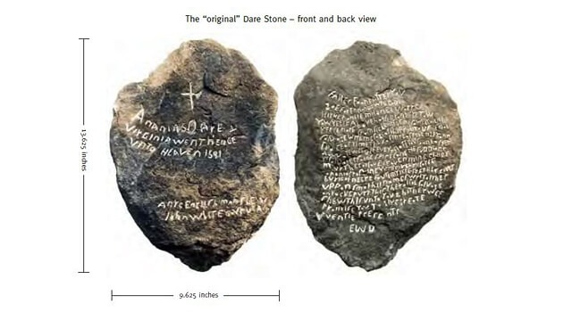 The original Dare Stone, Front and Back