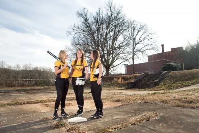 Softball Players at MIlliken Plant