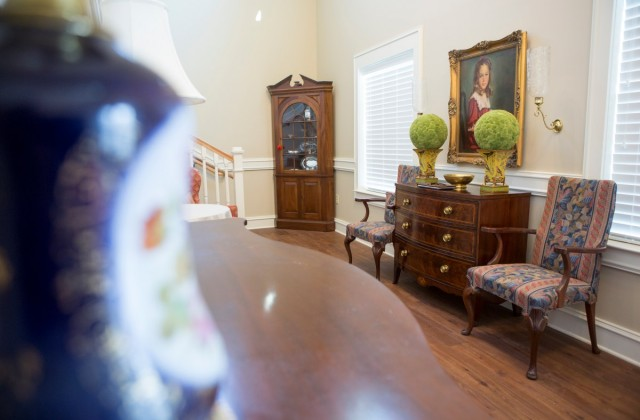 Sarah Ailene Wahl, WC '50, of Tampa, Florida, gifted $67,000 in furnishings to the new home for Alpha Delta Pi in memory of her daughter, Ceslie Alliene Schroder, WC '83, who died in 2013. Both mother and daughter served as president of Lambda Chapter of ADPi, Brenau's oldest sorority. The portrait depicts Ceslie at 10, the year she sang on the steps of the old sorority house I Want to be an ADPi.
