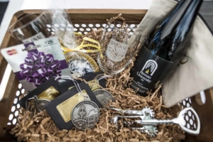 A basket from the raffle from the homecoming celebrations at Brenau University. (AJ Reynolds/Brenau University)